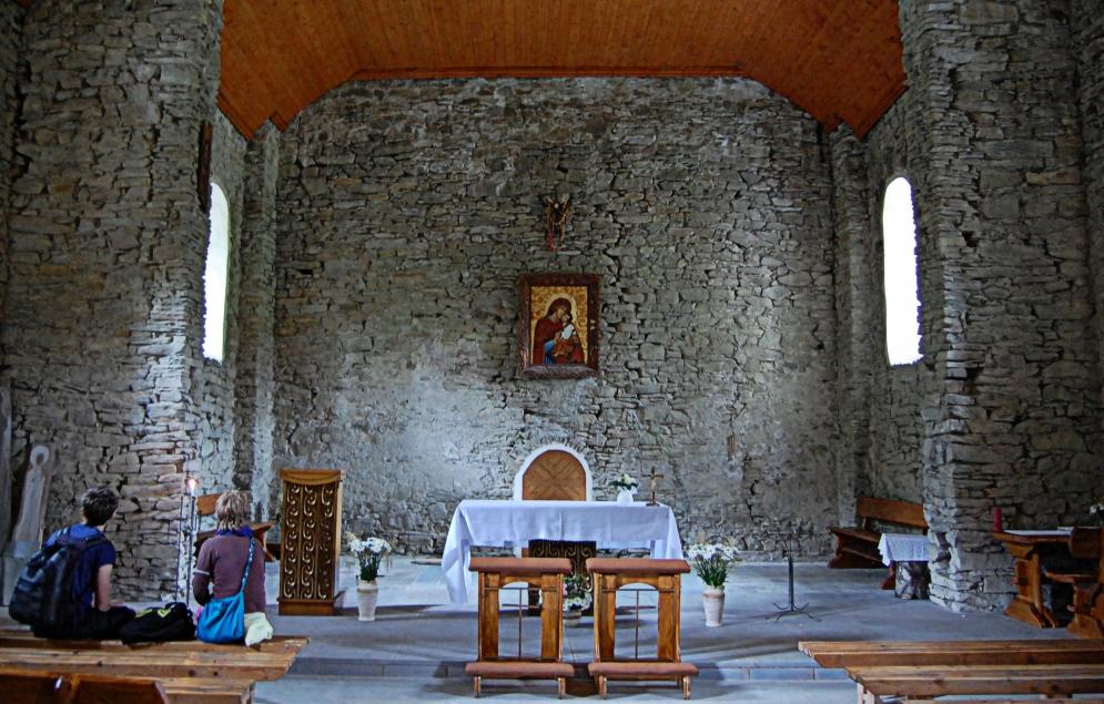 Wnetrze cerkwi w Lopience. Bieszczady z jaktoblisko.com