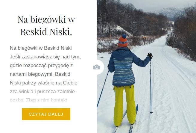 beskid niski biegowki narty gory bieszczady przewodnik wycieczka